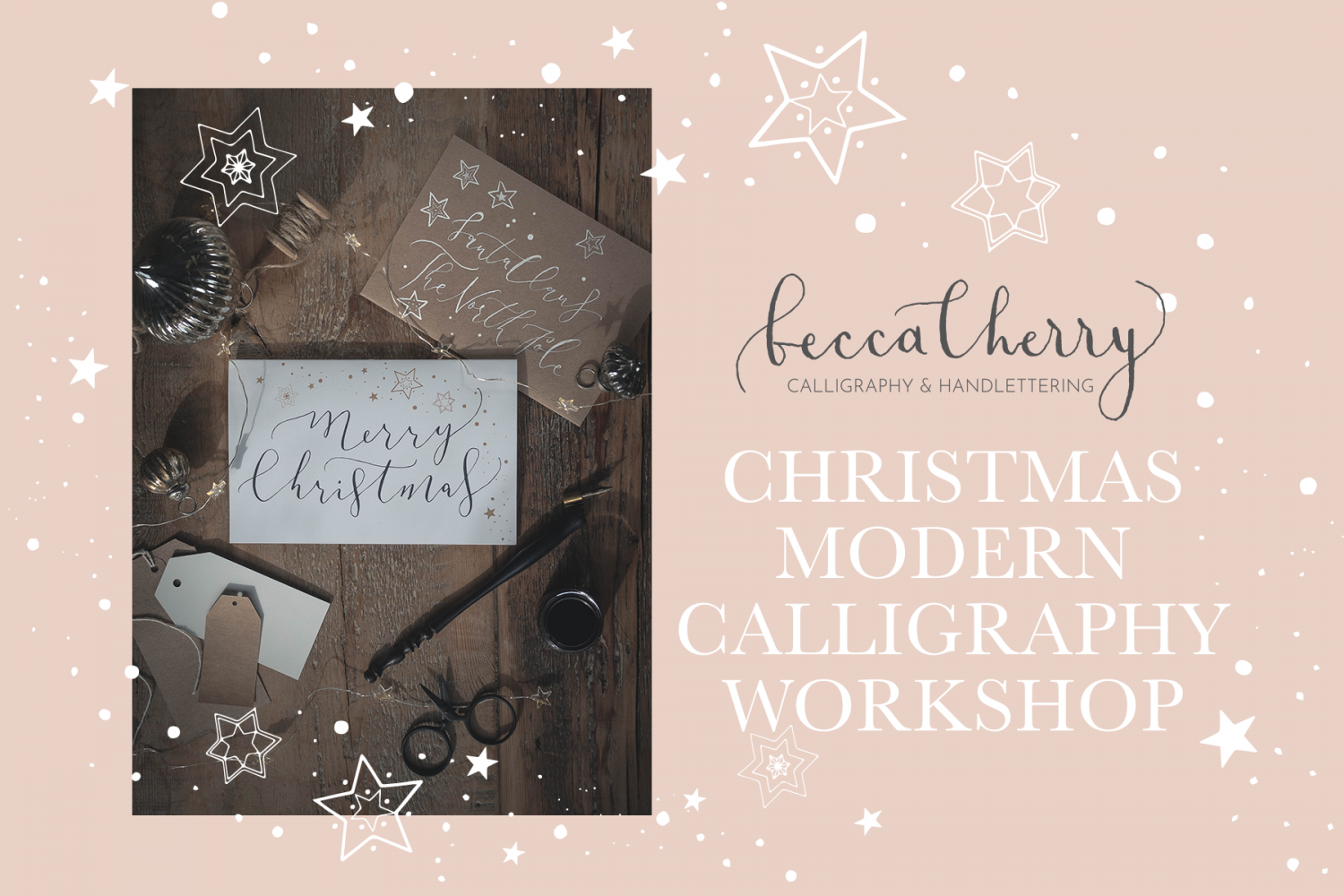 Christmas Calligraphy.Christmas Modern Calligraphy Workshop Hylands Estate